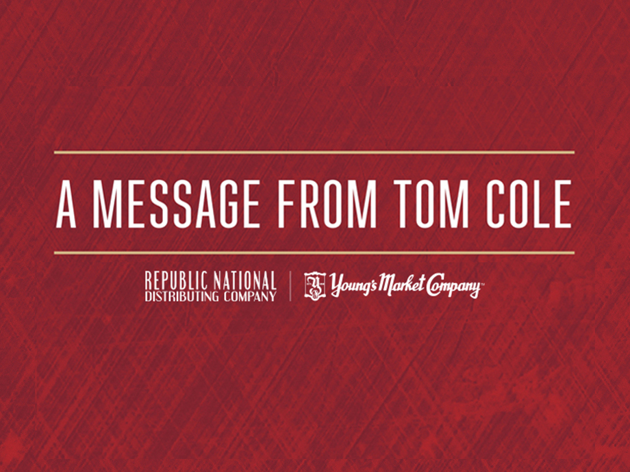 A Message To Our Associates From Tom Cole, CEO and President