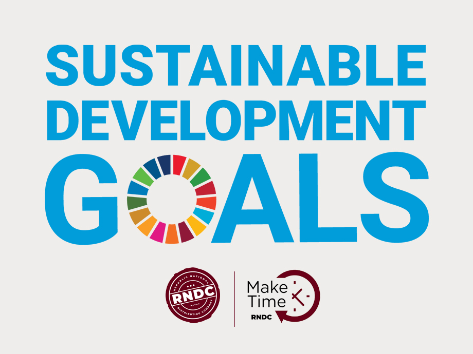 RNDC has proudly adopted 11 of the United Nations 17 Sustainable Development Goals or SDGs.